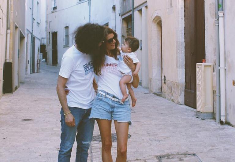 Famille avec les t-shirts Risette femme, mixte et bébé