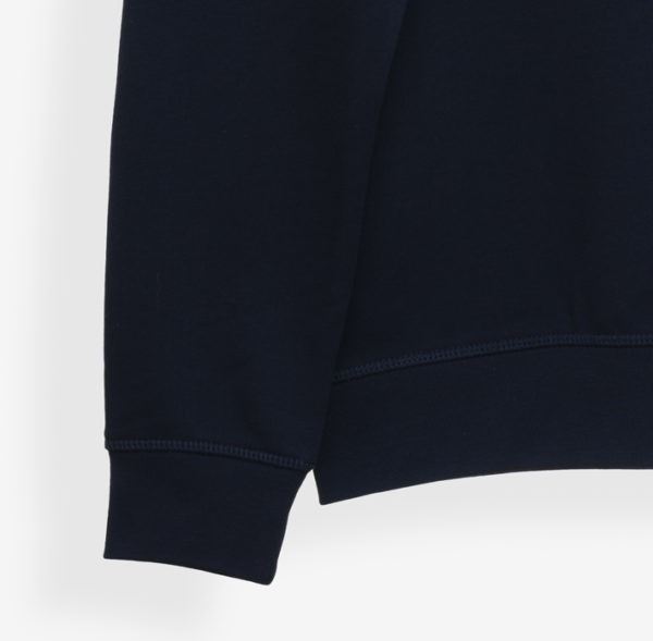 RisetteAndCo_ Sweat marine adulte détails bords côtes