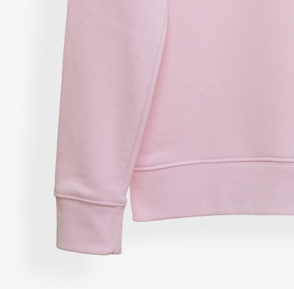 RisetteAndCo_ Sweat rose pâle adulte détails bords côtes