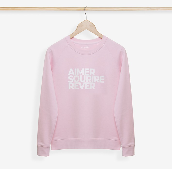 sweatshirt femme rose