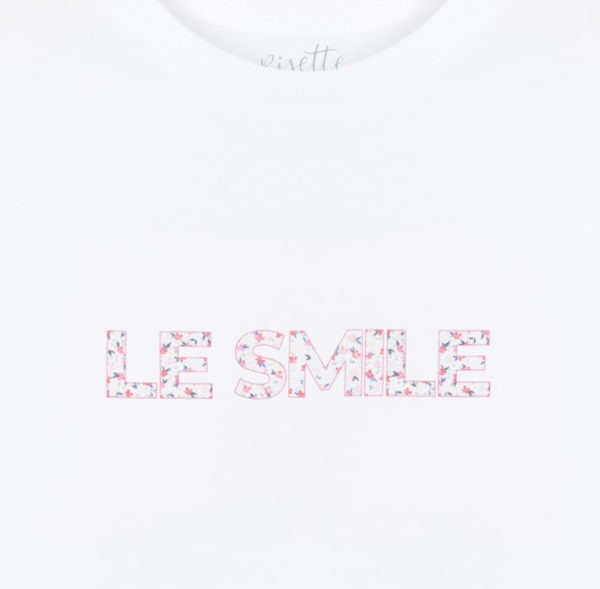 T-shirt-LE SMILE_ENFANT-ROSE_Détail impression