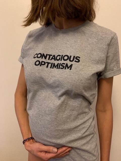 Contagious optimism gris porté