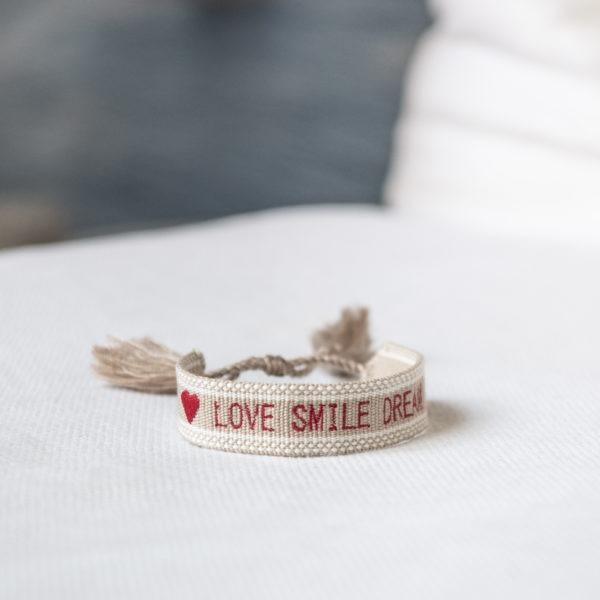 Bracelet Love Smile Dream Risette and Co en collaboration avec 23 Mai _ 1