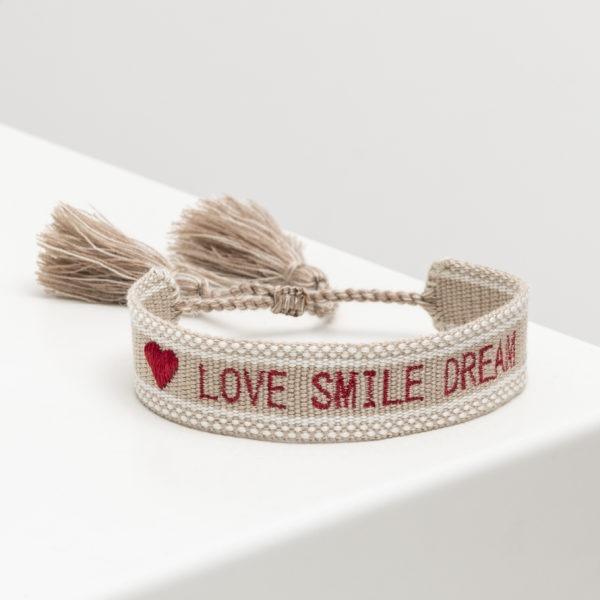 Bracelet Love Smile Dream Risette and Co en collaboration avec 23 Mai _ lien ajustable 2