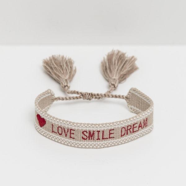 Bracelet Love Smile Dream Risette and Co en collaboration avec 23 Mai _ lien ajustable