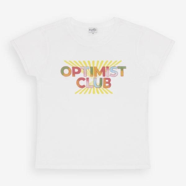 T-shirt Optimist Club à plat vue complète