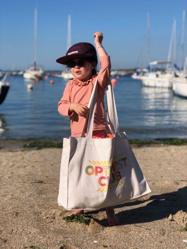Cabas Optimist Club porté petite fille 2