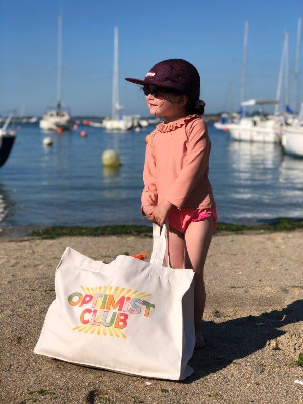 Cabas Optimist Club porté petite fille